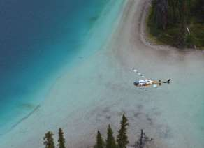 Lake heli-tour sightseeing