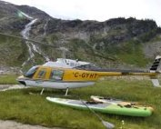 heli-SUP, stand-up paddling trip