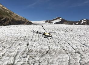 helicopter glacier tours Stewart BC