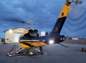Fort St John helicopter base
