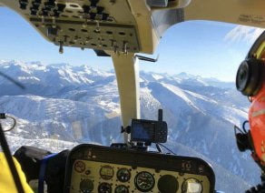 YHL heli-skiing pilot view