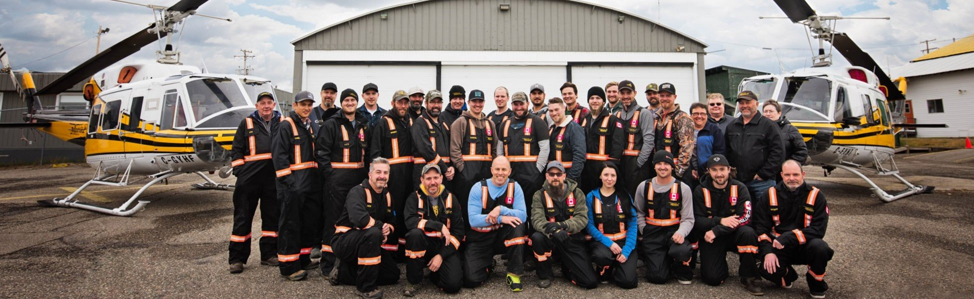 Yellowhead Helicopters engineering staff