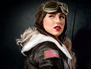 women in aviation graphic