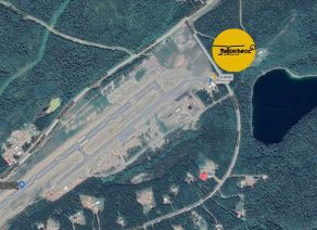 Dease Lake helicopter base location graphic